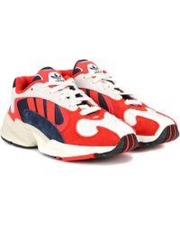 adidas Originals Yung 1 Nubuck Sneakers - Red