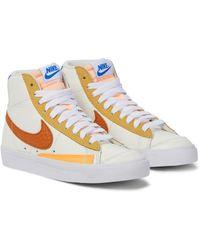Nike Baskets Blazer '77 en cuir - Blanc