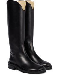 Proenza Schouler Leather Riding Boots - Black