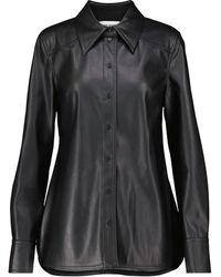 Stand Studio Juliana Faux Leather Shirt - Black