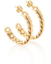 Elhanati Exklusiv bei Mytheresa – Vergoldete Ohrringe Rita - Mettallic