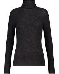 Ganni Merino Wool Turtleneck Sweater - Black