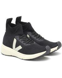 Rick Owens X Veja zapatillas Sock Runner - Negro