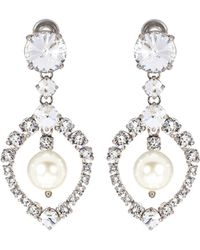 Miu Miu - Crystal-embellished Clip-on Earrings - Lyst