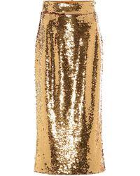 Dolce & Gabbana Sequined Pencil Skirt - Metallic