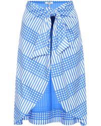 Ganni Exclusive To Mytheresa – Aroa Printed Skirt - Blue