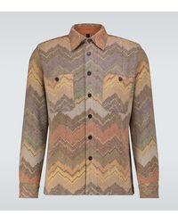 Missoni Hemdjacke aus einem Wollgemisch - Grau