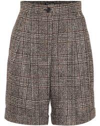 Dolce & Gabbana Checked Wool-blend Bermuda Shorts - Grey