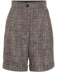 Dolce & Gabbana Checked Wool-blend Bermuda Shorts - Gray