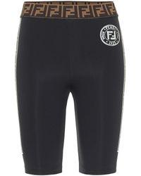 Fendi Shorts mit Logo - Schwarz
