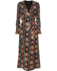 Etro Printed Silk-blend Crêpe Midi Dress - Multicolour