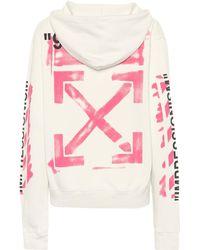 Off-White c/o Virgil Abloh - Sweat-shirt à capuche en coton imprimé - Lyst