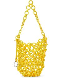 Jil Sander Chain-link Resin Tote - Yellow