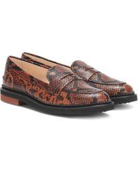 Tod's Loafers aus geprägtem Leder - Braun