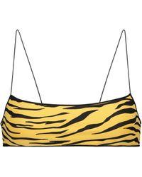 Tropic of C Exclusive To Mytheresa – The C Animal-print Bikini Bottoms - Yellow
