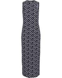 Balenciaga Logo Stretch-cotton Midi Dress - Black