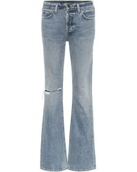 Goldsign Jean flare The Nineties Boot à taille haute - Bleu