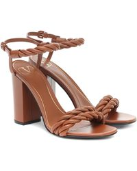 Valentino Garavani The Rope 100 Leather Sandals - Brown