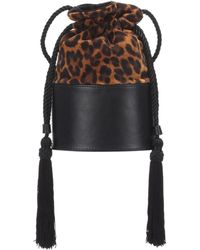 Hunting Season Exclusive To Mytheresa – The Lola Small Leopard-print Abucket Bag - Multicolour