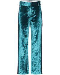 Sies Marjan Pantalones Sonya de terciopelo - Azul