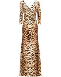 Roberto Cavalli Leopard-print Jersey Maxi Dress - Multicolor