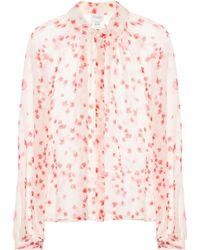 Giambattista Valli - Bedruckte Bluse aus Seide - Lyst