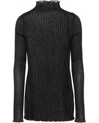 Jil Sander Ribbed-knit Top - Black