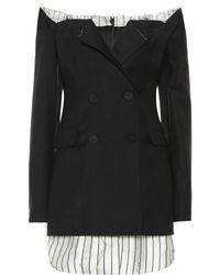 Monse Robe Ciara en laine stretch - Noir