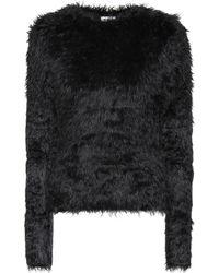Balenciaga Pullover aus Faux Fur - Schwarz