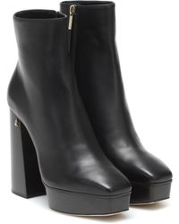 Jimmy Choo Bryn Leather Ankle Boots - Black
