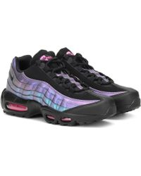 Nike Air Max 95 Leather Trainers - Black