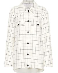 Tibi Windowpane Workmen Checked Coat - White
