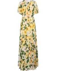 Dolce & Gabbana Vestido de fiesta de chifón de seda - Amarillo