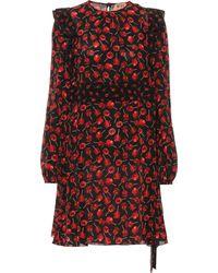 N°21 Printed Silk Minidress - Red