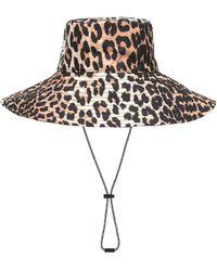 Ganni Leopard-print Hat - Multicolour