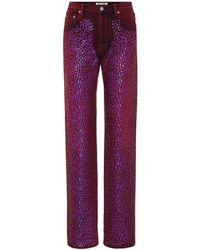 Acne Studios Jeans con lentejuelas Tisi - Morado