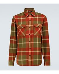 RRL Checked Wool Overshirt - Multicolour