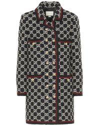 Gucci Soprabito in tweed di cotone e lana - Nero