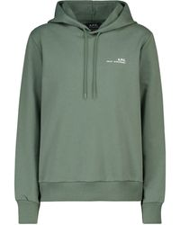 A.P.C. Cotton Hoodie - Green