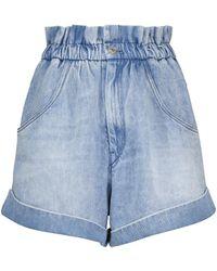 Étoile Isabel Marant Shorts vaqueros paperbag Itea - Azul