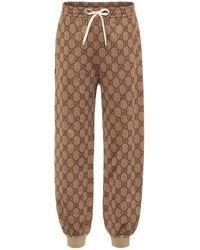 Gucci Pantaloni sportivi in misto cotone GG - Multicolore