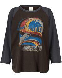 Visvim Bedrucktes Top aus Baumwoll-Jersey - Schwarz