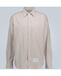 Thom Browne Striped Long-sleeved Shirt - Multicolour