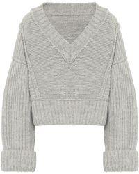 Jacquemus La Maille Cavou Wool-blend Sweater - Natural