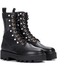 Altuzarra Embellished Leather Ankle Boots - Black