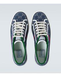 Gucci Sneakers Tennis 1977 GG aus Canvas - Blau