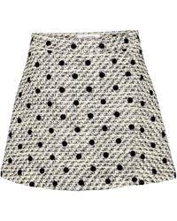 Valentino Minirock aus Tweed - Mehrfarbig
