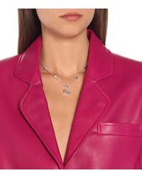 Gucci Collar GG Marmont de plata esterlina con adornos de topacio y madreperla - Metálico