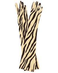 Gucci Guanti a stampa in seta stretch - Multicolore