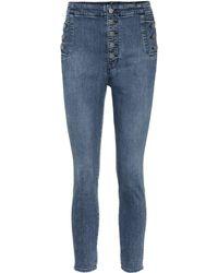 J Brand Natasha High-rise Skinny Jeans - Blue